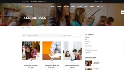 wordpress theme education