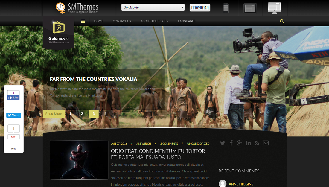 wordpress movie theme free