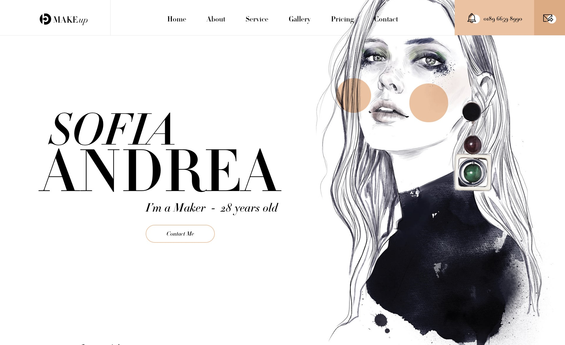 makeup artist website template