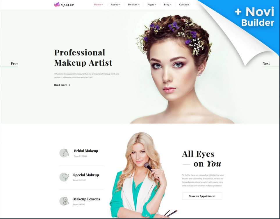 The best makeup artist website template on the market 2017 for The best artist websites