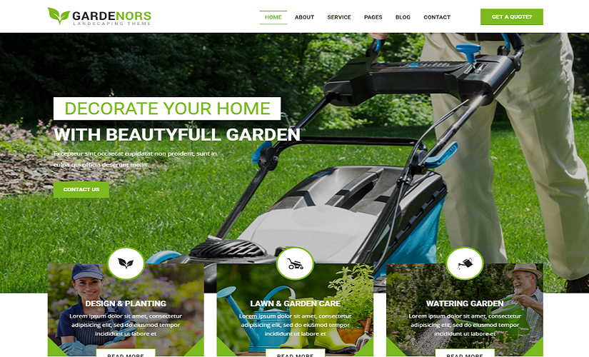 Some Awesome Gardening And Landscaping Website Template