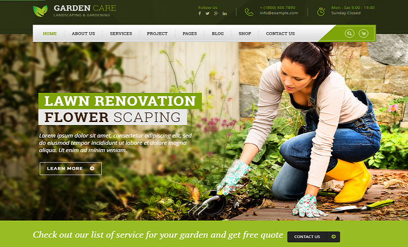 A List Of Best Landscaping WordPress Theme Templates