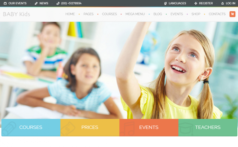 A Collection Of Some Best Kindergarten Website Template 2017