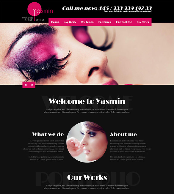 Wordpress just another wordpress site for Yasmin beauty salon