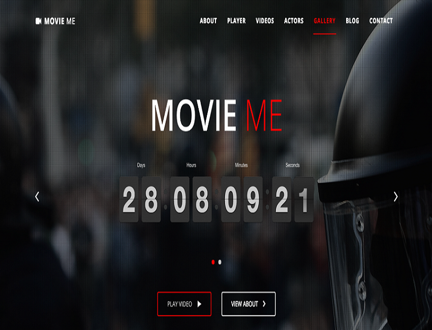 Wordpress theme for movie website