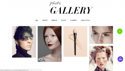 Makeup Artist WordPress Thems