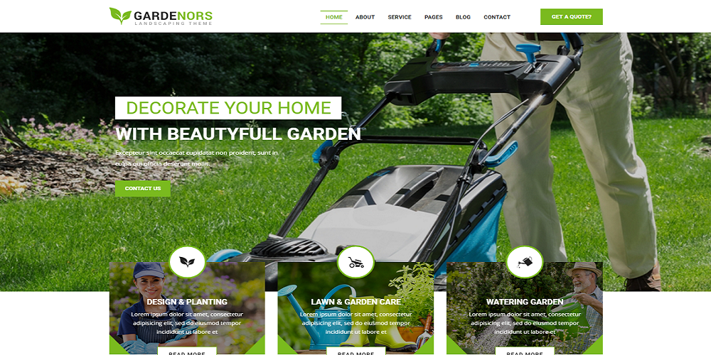landscaping website template