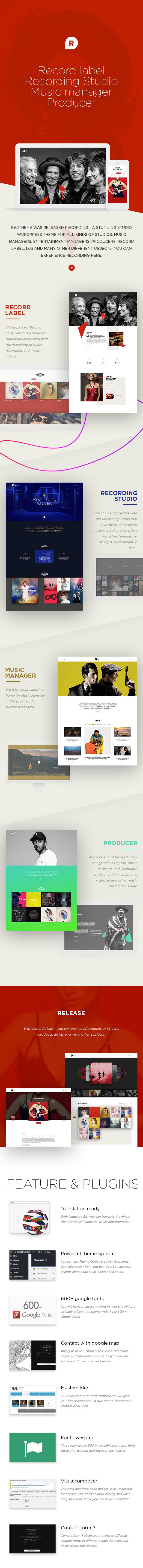 Recording Studio WordPress Theme - DJ / Producer / Music / Soundtrack / Artist / Entertainment - 1