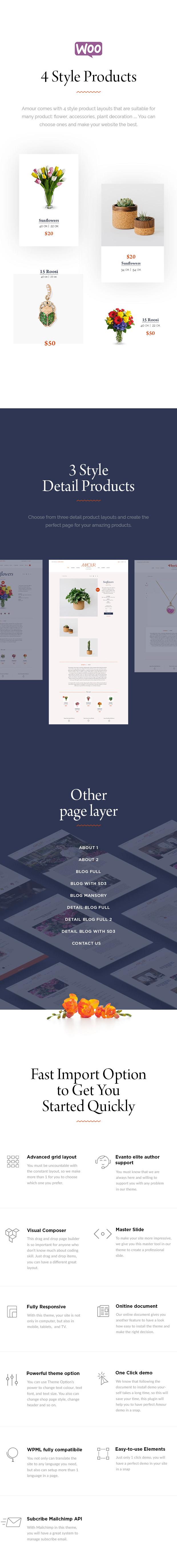 Amour - Shop WordPress theme - Flower - Jewelry - Handmade - Gift - 6