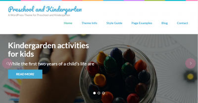 Kindergarten wordpress theme free download