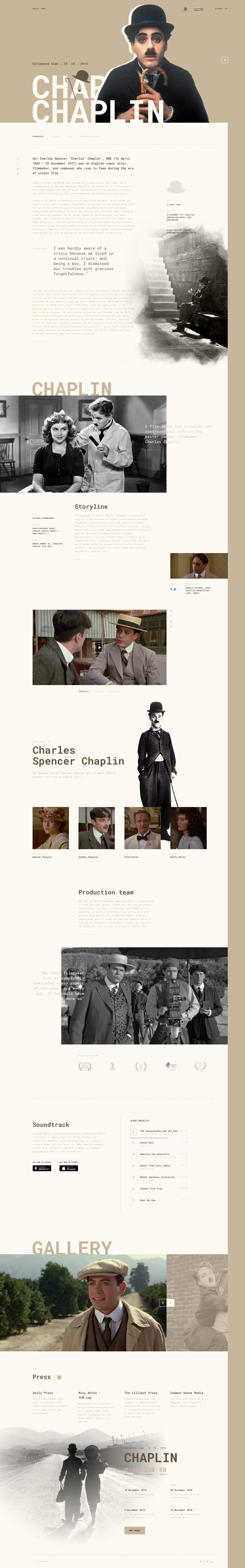 Free Sketch File Landing Page For Biographical Film