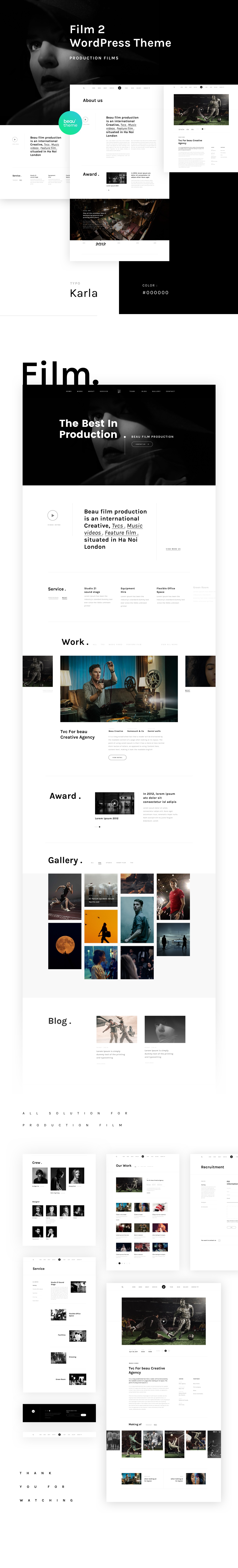 Professional Free Download Template For Film Agency