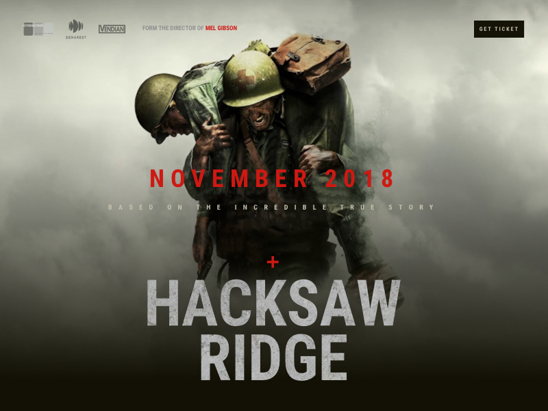 Best Stunning Landing Page For War Film