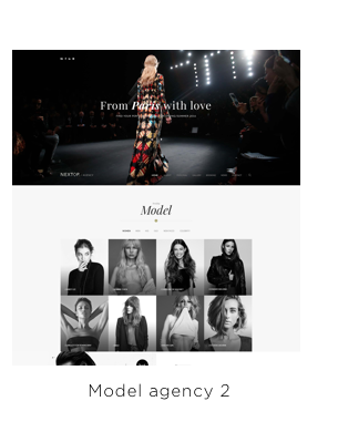 Nexttop Model WordPress Theme