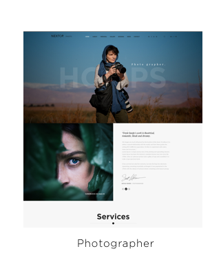 Nexttop Model WordPress Theme