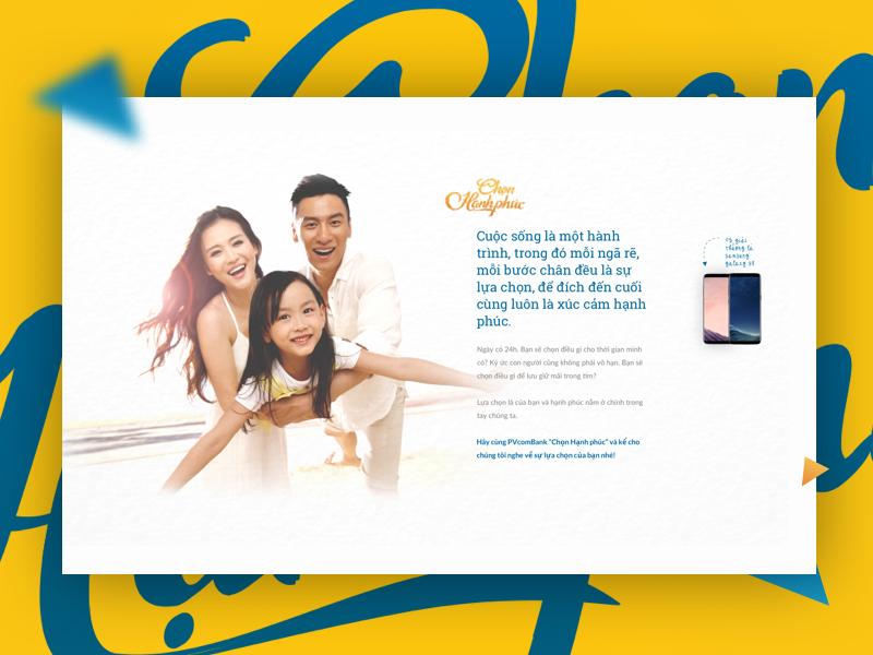 "Beau Agency-PVcomBank: Microsite Campaign ""Chọn hạnh phúc"""