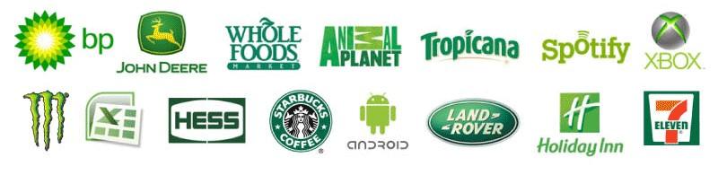 beau - thiết kế logo - màu xanh lục
