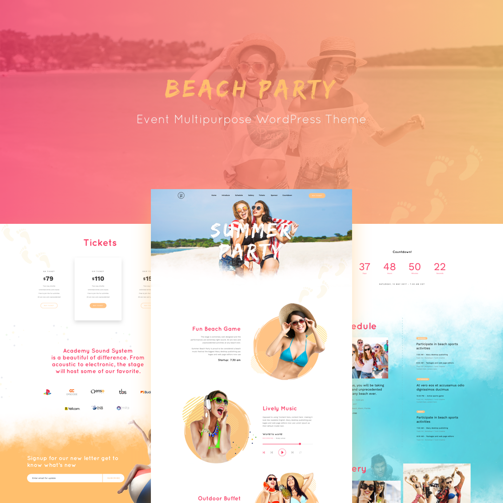WordPress Party Theme