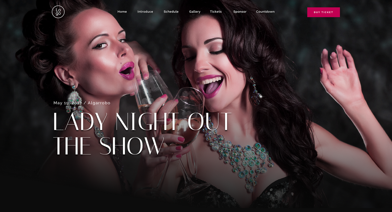 lady night wordpress party theme