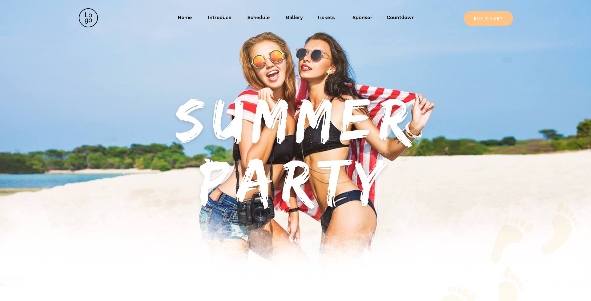 beach party wordpress party theme