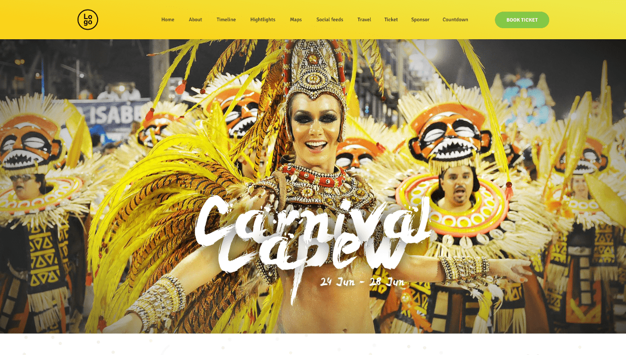 are you looking for an unique carnival wordpress theme