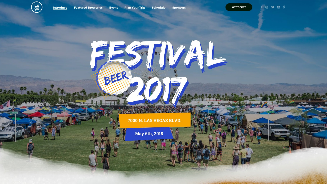 festy beer festival wordpress theme