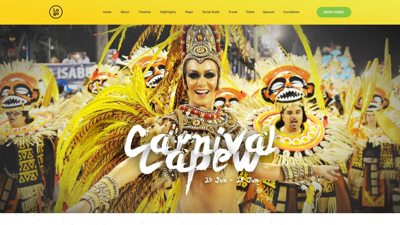 carnival wordpress party theme