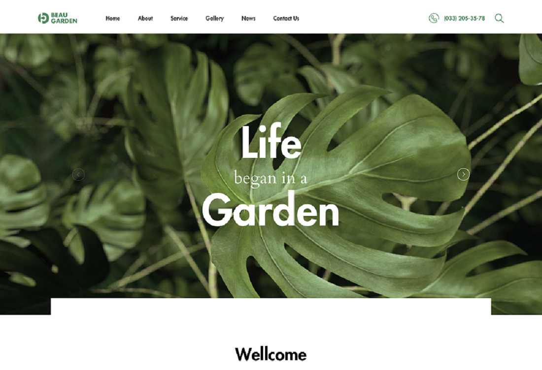 A Collection Of The Attractive Gardener WordPress Theme