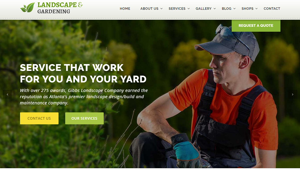 5+ Outstanding Gardening And Landscaping Website Template 2017