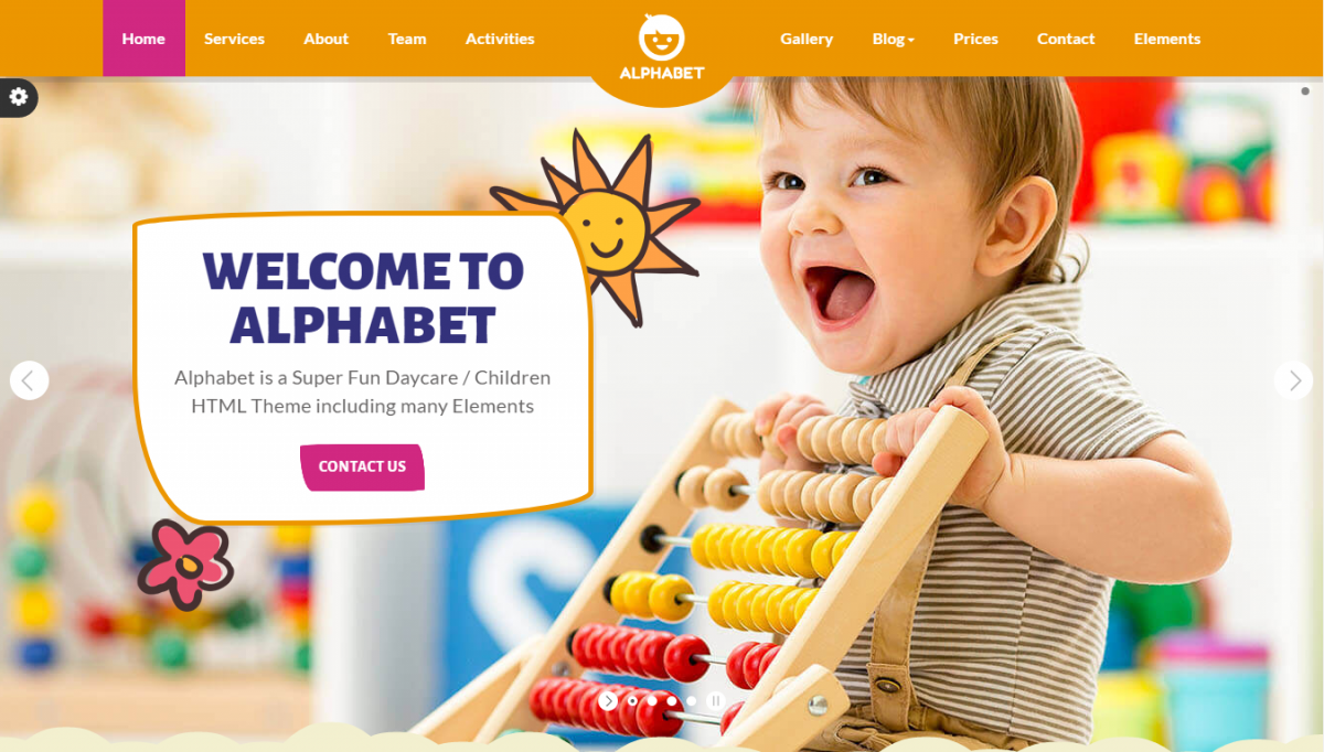 Top 5 Colorful And Stunning Kindergarten Website Template
