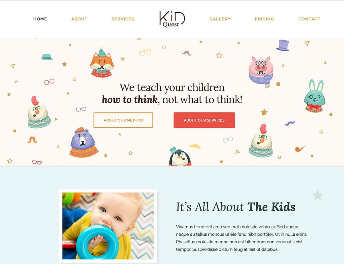 Some Creative And Lovely Nursery WordPress Theme 2017