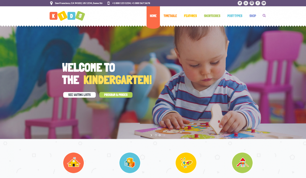 4+ Kindergarten Theme WordPress For Who Looking For