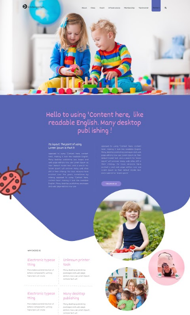 A Fantastic Kindergarten WordPress Theme For Children School