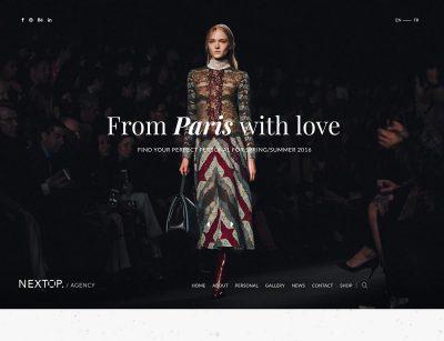 model agency wordpress themes