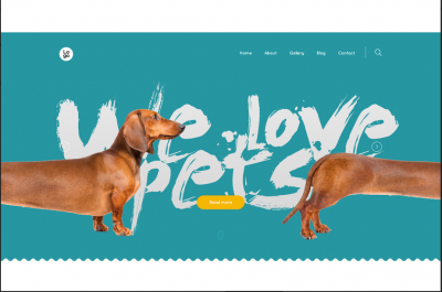 pet website templates