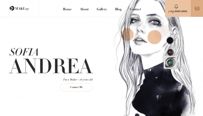 makeup website templates