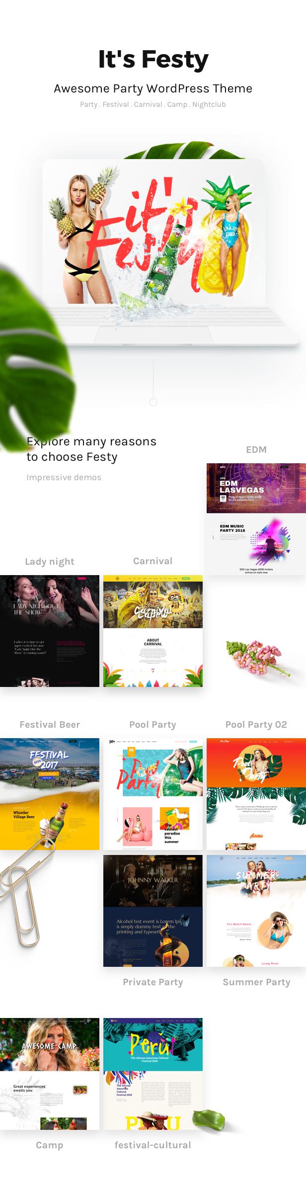 Demo Festy WordPress Theme
