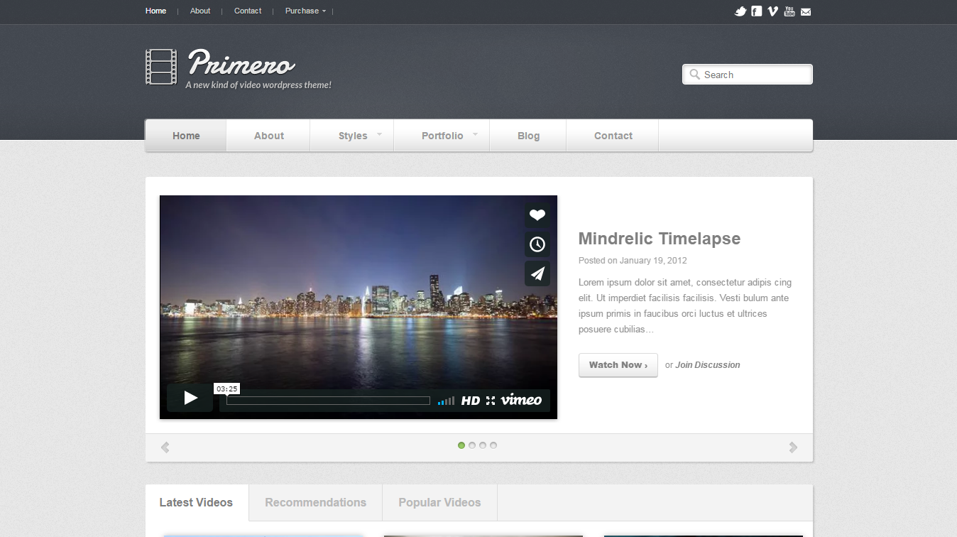 wordpress theme for videographers