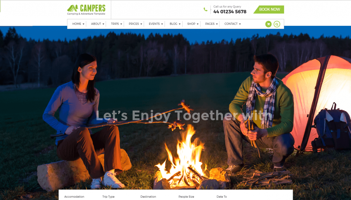 Some Awesome Camping WordPress Theme 2017