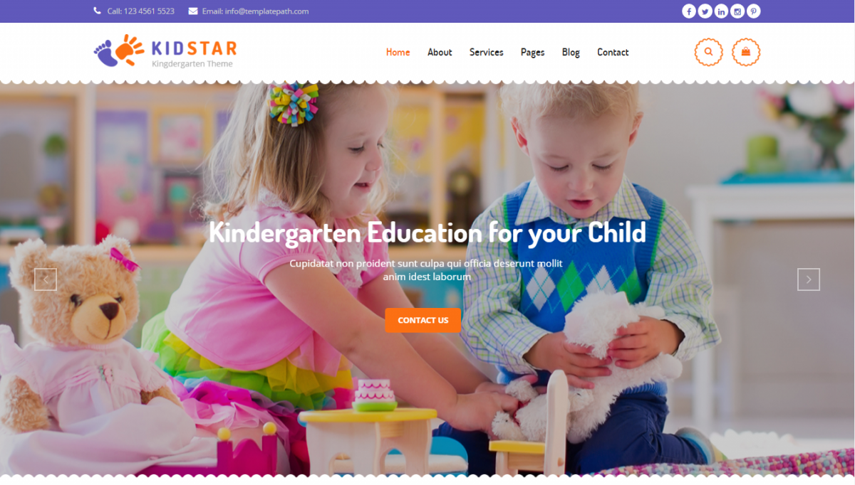 Some Creative And Modern Kindergarten Website Template