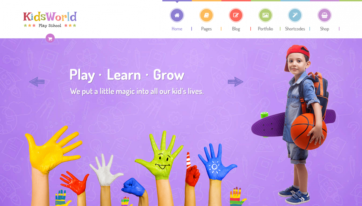 Add More Outstanding Kindergarten Theme WordPress